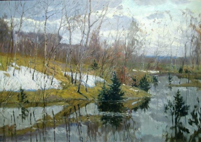 «Весенний разлив». Автор: Копняк Валерий Андреевич.