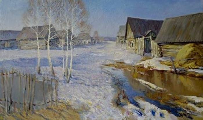 «Весна в русской деревне». Автор: Роман Николаевич Игнатьев.