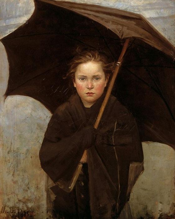 Дождевой зонтик. (1883). Автор: Мария Башкирцева.