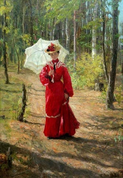 Женский портрет. (1903). Автор: Федот Сычков.