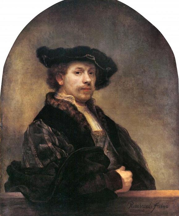 Автопортрет. Автор:Рембрандт.