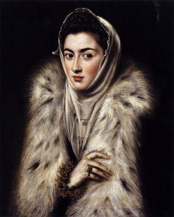 Дама в мехах.  Автор: Эль Греко.
