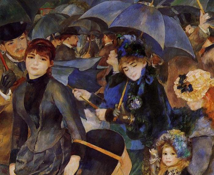 «Зонтики». Фрагмент. Автор: Огюст Ренуар.