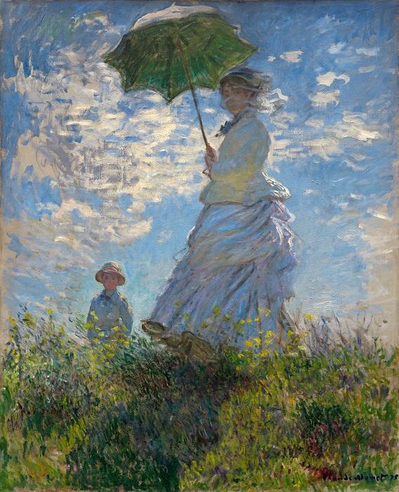 Дама с зонтиком. Автор: Клод Моне.