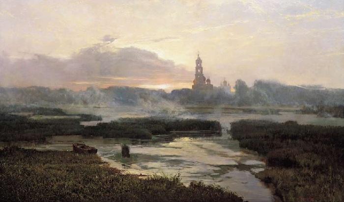 «Утро Серафимо-Дивеевской Лавры». Автор: Александр Афонин.