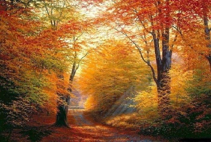 Осенний пейзаж от Тянь Хайбо.