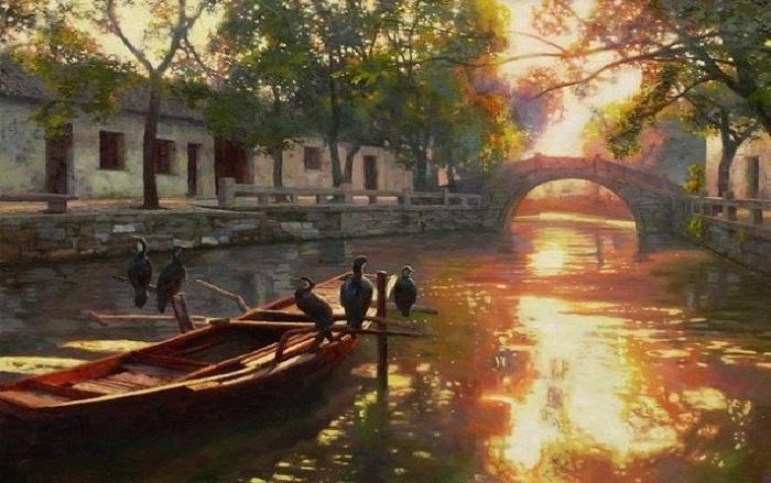 Пейзажная живопись от Тянь Хайбо.