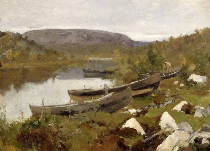 Ручей святого Трифона в Печенге. (1894). Автор: Константин Коровин.