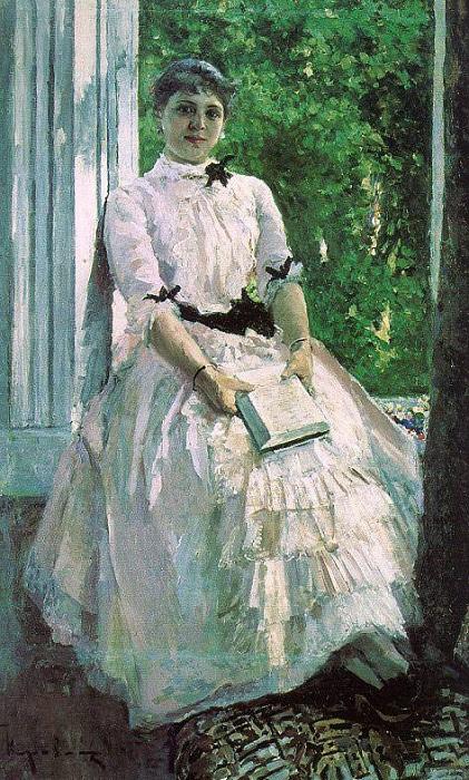 Портрет артистки Татьяны Спиридоновны Любатович. (1880). Автор: Константин Коровин.