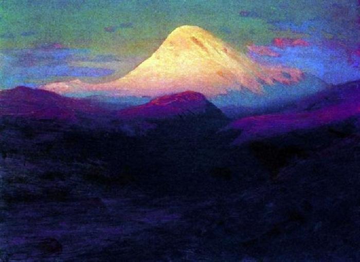 «Эльбрус вечером». Автор: Архип Куинджи.
