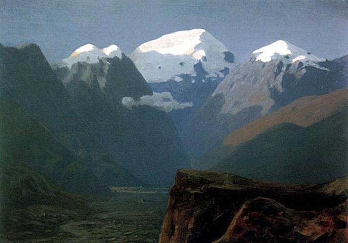 «Снежные вершины». (1890-1895). Автор: Архип Куинджи.