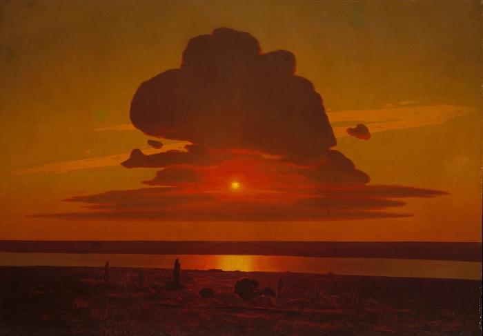 «Красный закат» (1905—1908). Автор: Архип Куинджи.