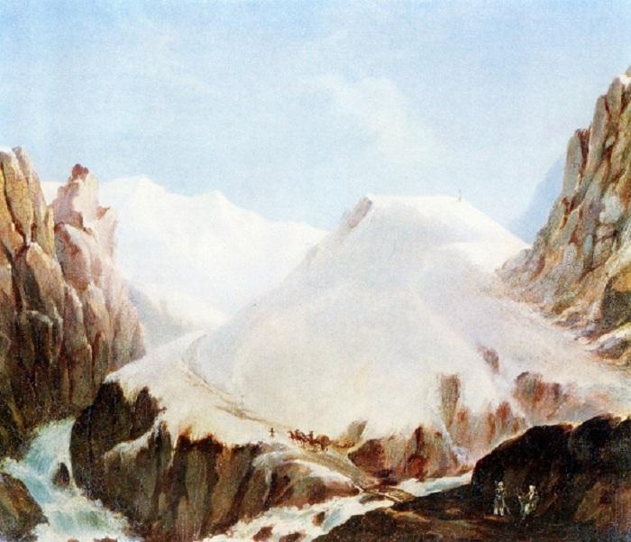 Крестовая гора. Масло. (1837-1838 г.г.). М.Ю. Лермонтов.