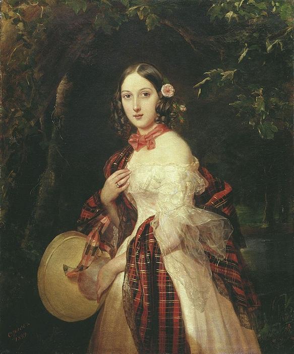 «Портрет Марии Аркадьевны Бек». (1839 год). Третьяковская галерея. Автор: П. Орлов.