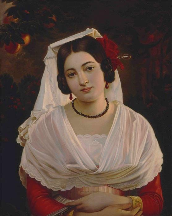 Портрет молодой итальянки. Автор: Пимен Орлов.