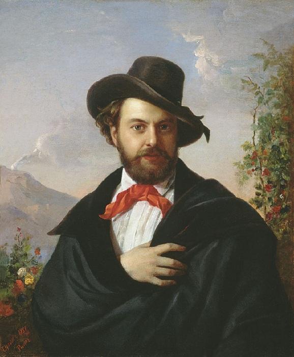 Автопортрет.(1851год). Автор: П. Орлов.