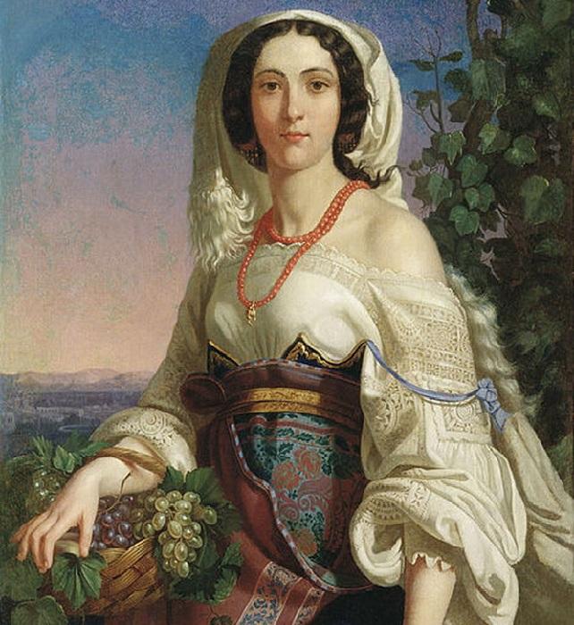 «Неаполитанка». (1839 год). Херсонский художественный музей. Автор: П.Орлов.