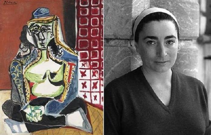 Сидящая женщина в турецком костюме. (1955). / Жаклин Рок.