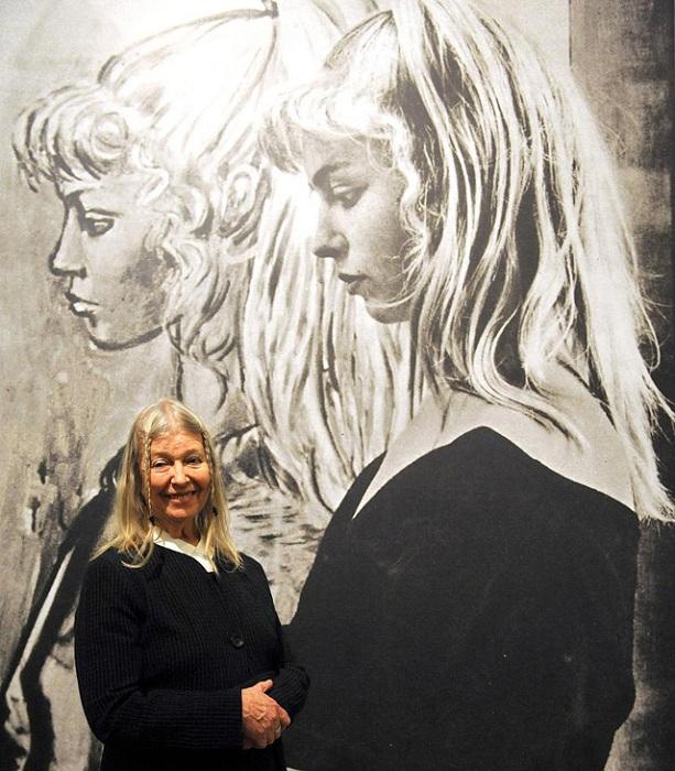 80-летняя Сильветт Давид на выставке в Бремене весной 2014.