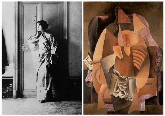 «Женщина в сорочке, лежащая в кресле» (1913). / Марсель Умбер (Ева).