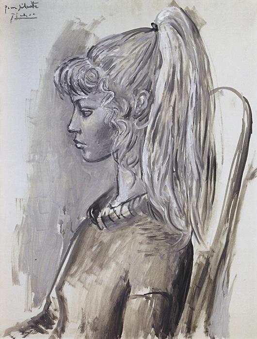 Пабло Пикассо. Портрет Сильветт. (1954).