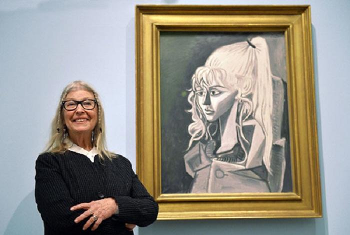 80-летняя Сильветт Давид (Лидия Корбетт) на выставке в Бремене весной 2014. 1954 Фото Harald Rehling