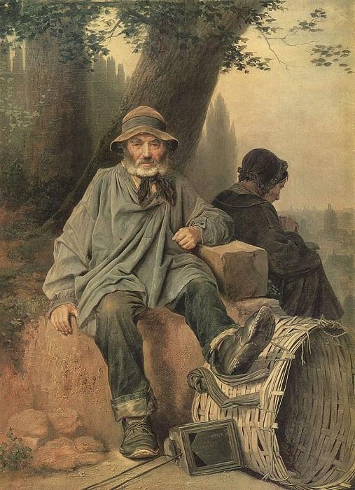 Парижские тряпичники. (1864). Автор: В.Перов.