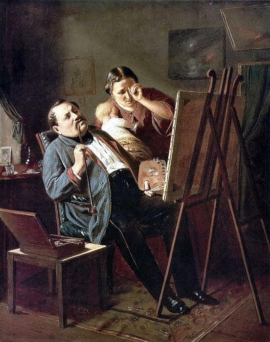 Дилетант. (1862). Автор: В.Перов.