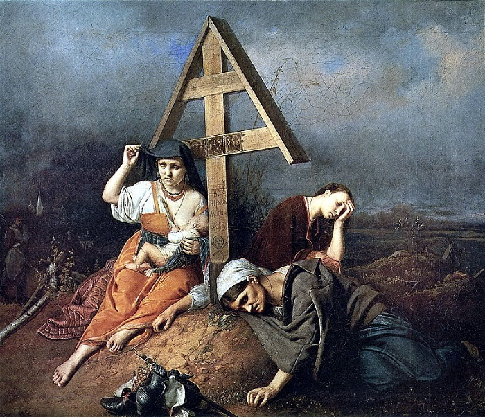 Сцена на могиле. 1859. Третьяковская галерея. Автор: В.Перов.