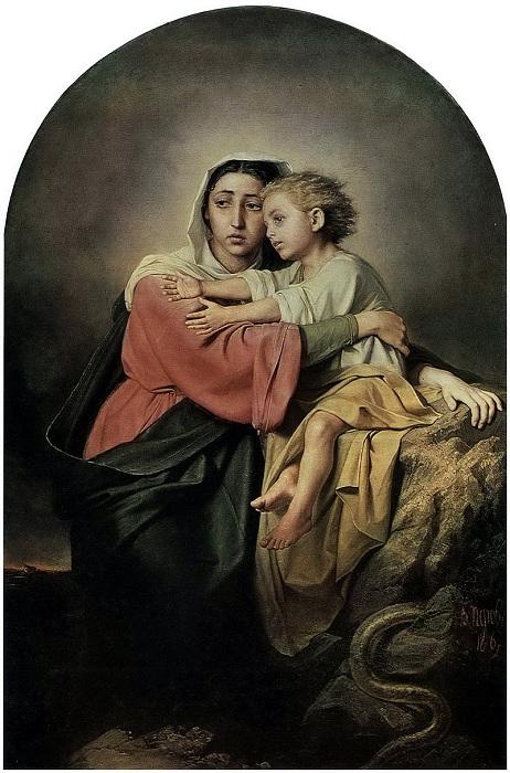 Христос и Богоматерь у житейского моря. (1867). Автор: В.Перов.