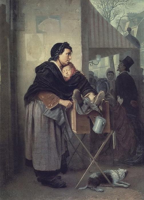 Парижская шарманщица. 1864. Автор: В.Перов.