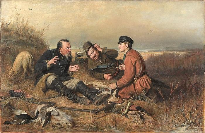 Охотники на привале. (1871). Автор: В.Перов.