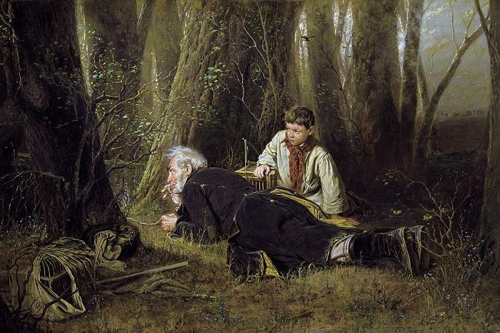Птицелов. 1870. Третьяковка. Автор: В.Перов.