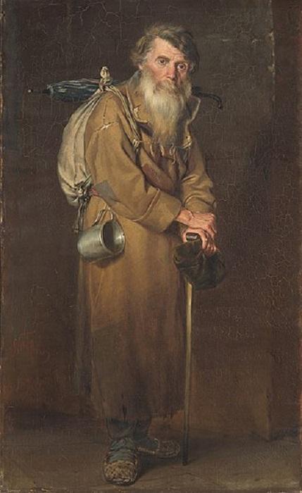 Странник. 1870. Государственная Третьяковская галерея. Автор: В.Перов.