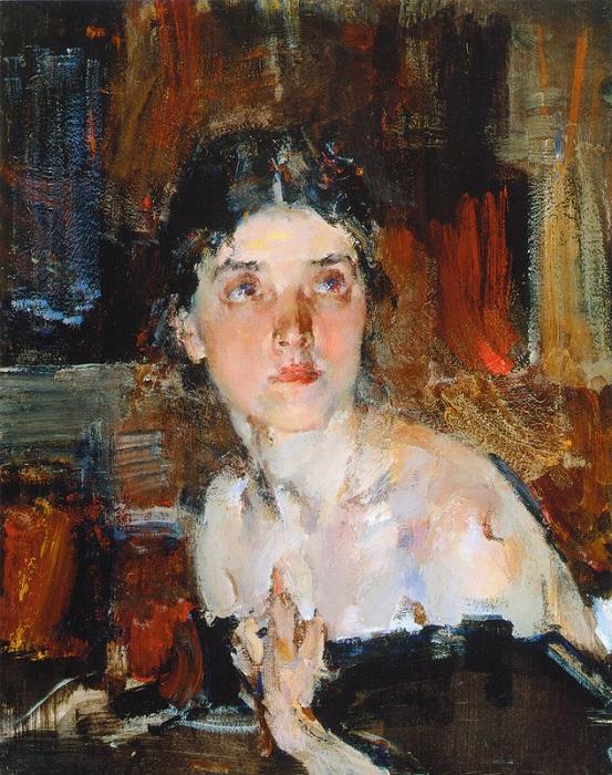 Портрет Александры (1927—1933). Жена художника. Автор: Николай Фешин.