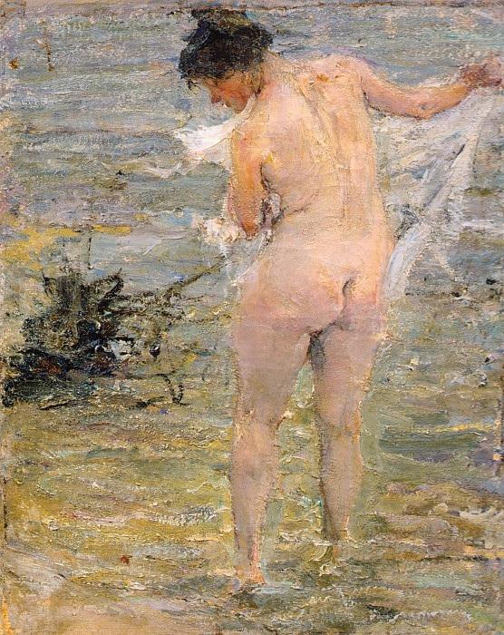 «Купальщица». (Не ранее 1913). Автор: Николай Фешин.