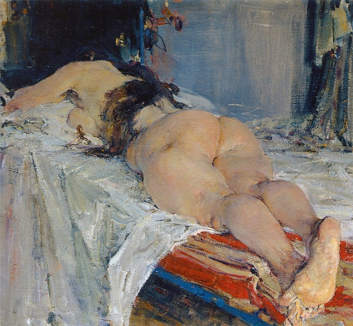 «Натурщица» (1910-е). Автор: Николай Фешин.