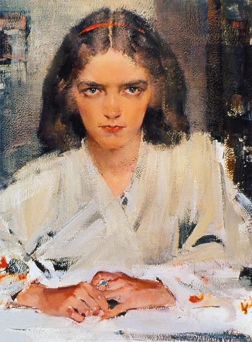 Ия в кимоно (Конец 1930-х). Автор: Николай Фешин.
