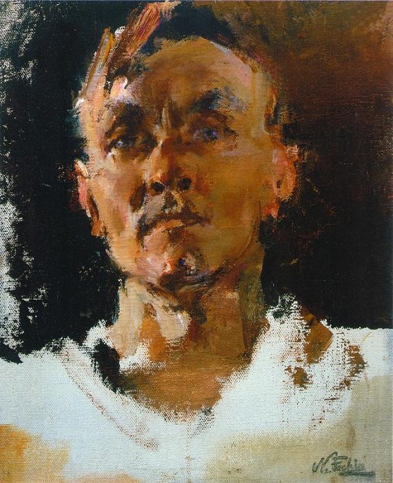 Автопортрет. (1940-е). Автор: Николай Фешин.