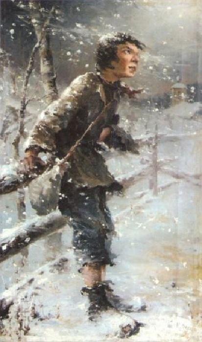 «Беспризорник» — ученическая работа Н. Фешина. 1890-е годы. Казань, Национальная художественная галерея «Хазинэ».