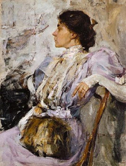 «Дама в лиловом» (1908). Санкт-Петербург, Государственный Русский музей. Автор: Николай Фешин.