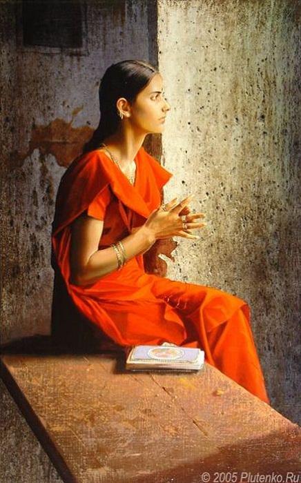 «Девушка в красном сари». Автор: Станислав Плутенко.