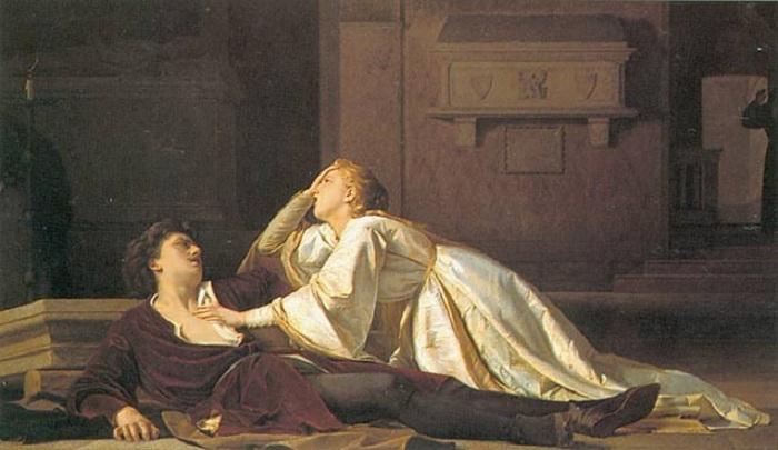 «Смерть Джульетты и Ромео». (1860 год). Автор: Пьетро Рои.