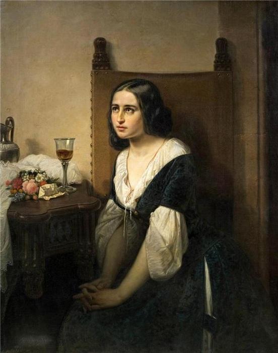 «Джульетта принимает снотворное». Автор: Доменико Скаттола.