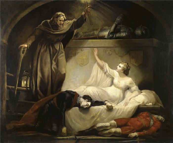 «Брат Лоуренс в Могиле Капулета. Ромео и Джульетта». Автор: Джеймс Норткоут Р.А.