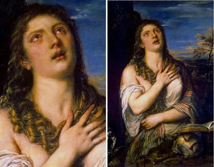 Кающаяся Мария Магдалина. Автор: Тициан Вечеллио.