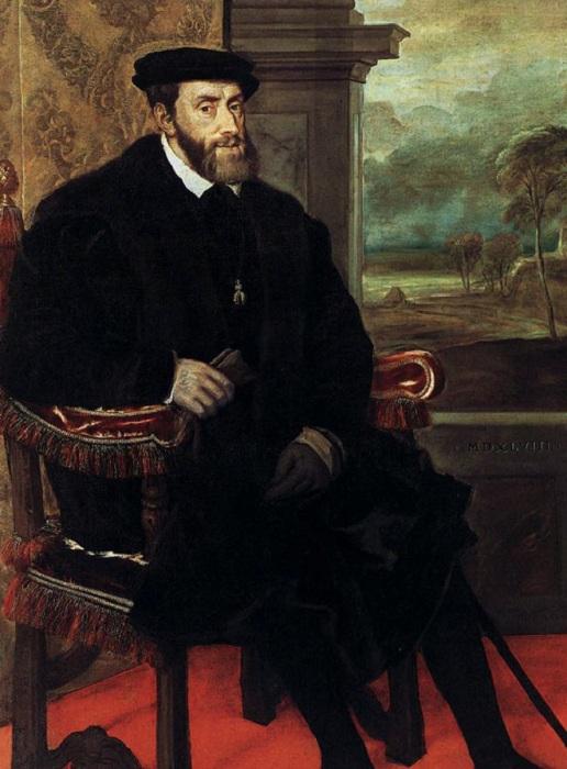 Портрет Карла V. Автор: Тициан Вечеллио.