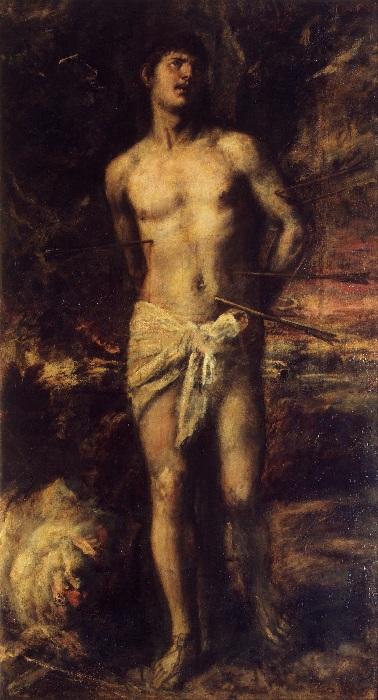 «Святой Себастьян». Эрмитаж. Автор: Тициан Вечеллио.