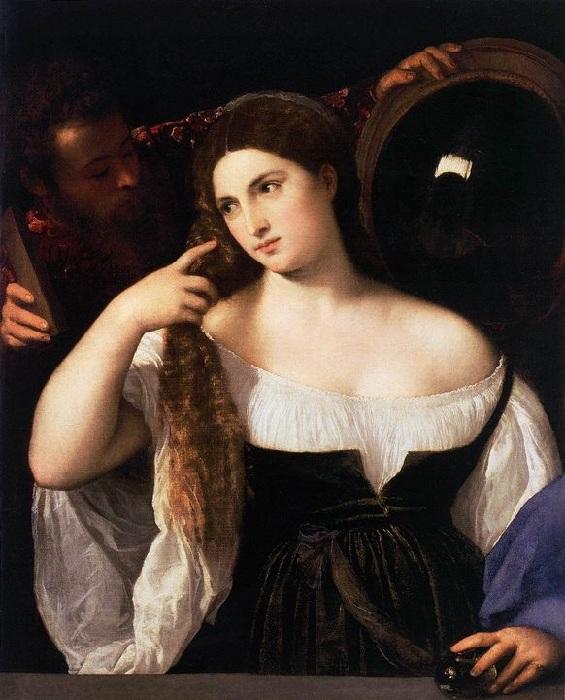 «Женщина перед зеркалом». (1515). Автор: Тициан Вечеллио.