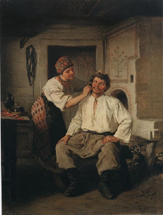 Жанровая сцена, (1876). Автор: Константин Трутовский.